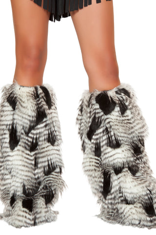 Feather Fur Leg Warmers