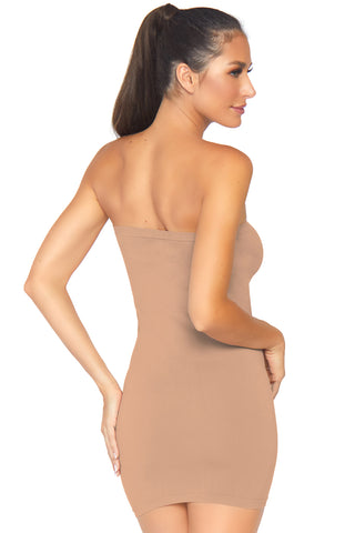 Naked Strapless Tube Dress