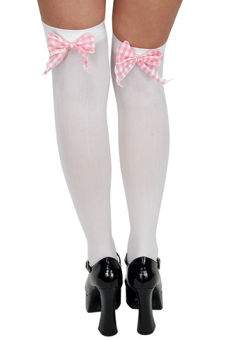 Gingham Bow Thigh Highs