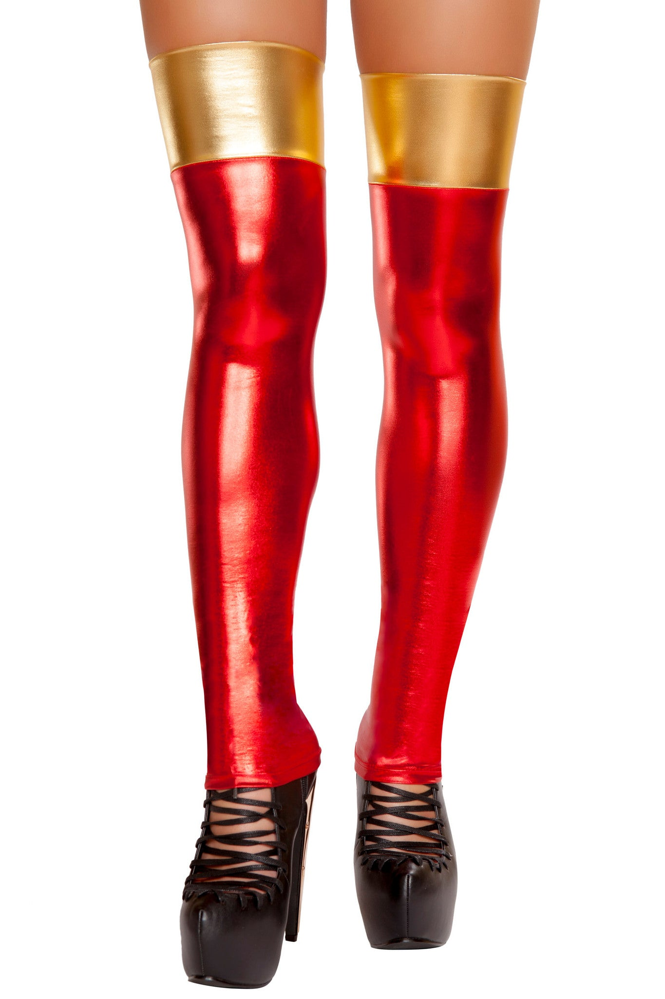 Red/Gold Hero Thigh Highs