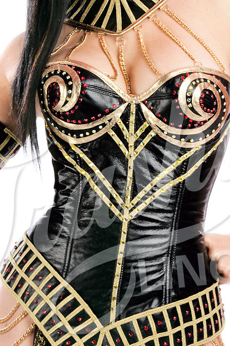 Queen of de Nile Corset with Swirl Cups