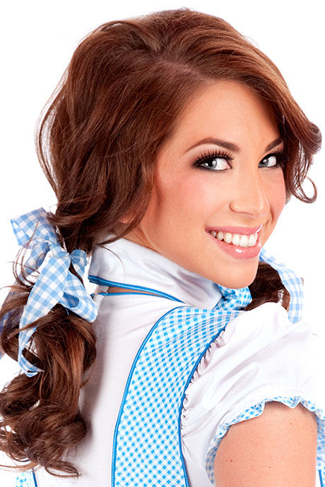 Blue Gingham Hair Bows