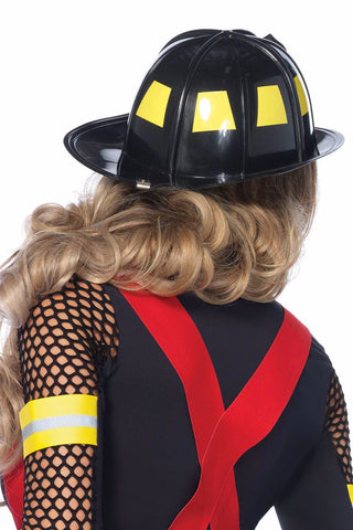 Black Firefighter Hat
