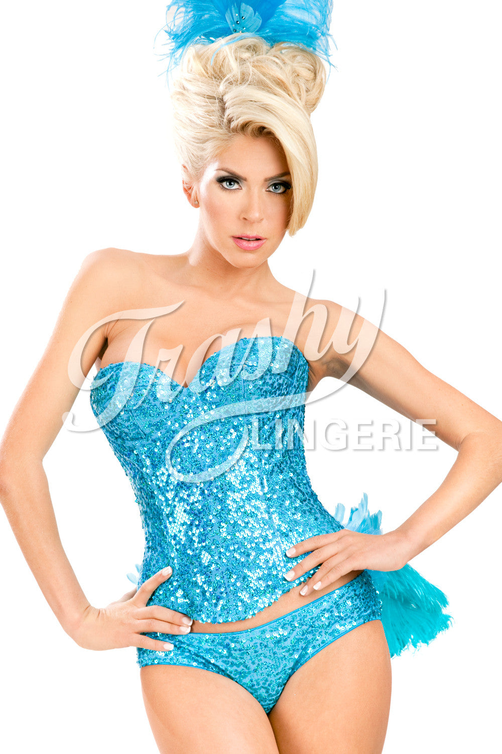 Sequined Showgirl Corset