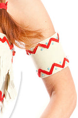 Lil White Dove Indian Arm Bands
