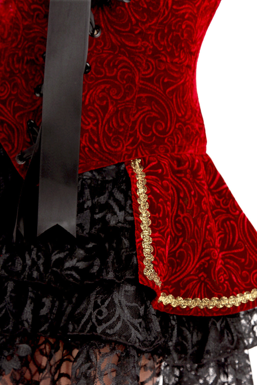 Velvet Courtesan Over Skirt
