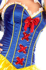Satin Snow White Deluxe Corset