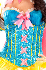 Sequined Snow White Corset