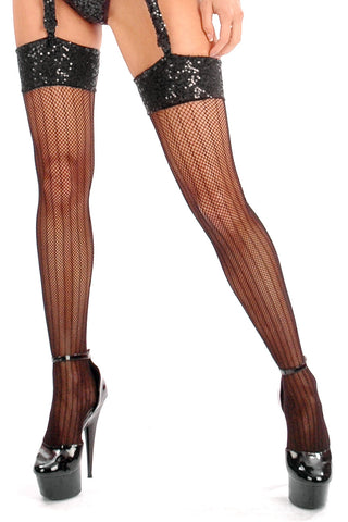 Sequined Top Marilyns Stockings