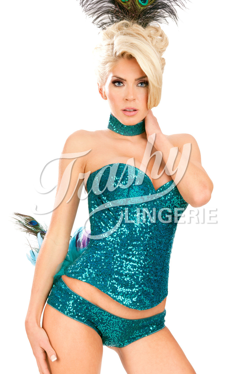 Sequined Peacock Corset