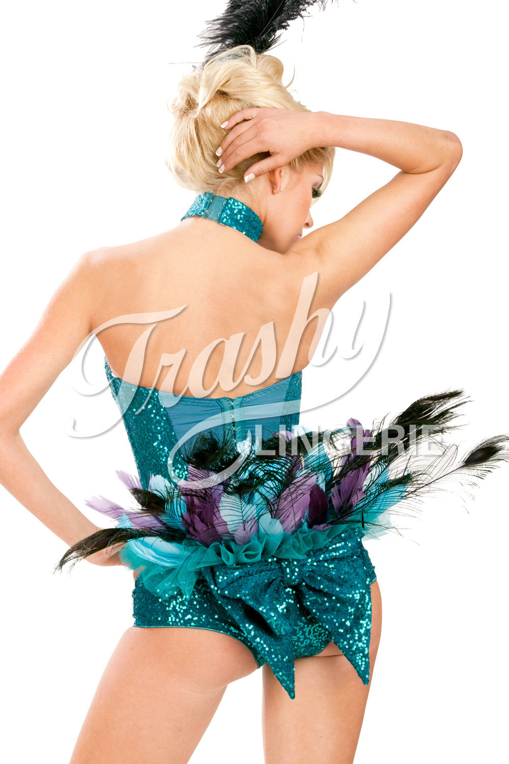 Sequined Peacock Tail