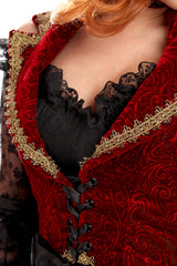 Velvet Cutaway Pirate Over Dress