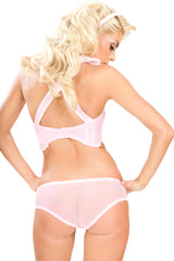 Stepford Scallop Bra with Criss Cross Straps