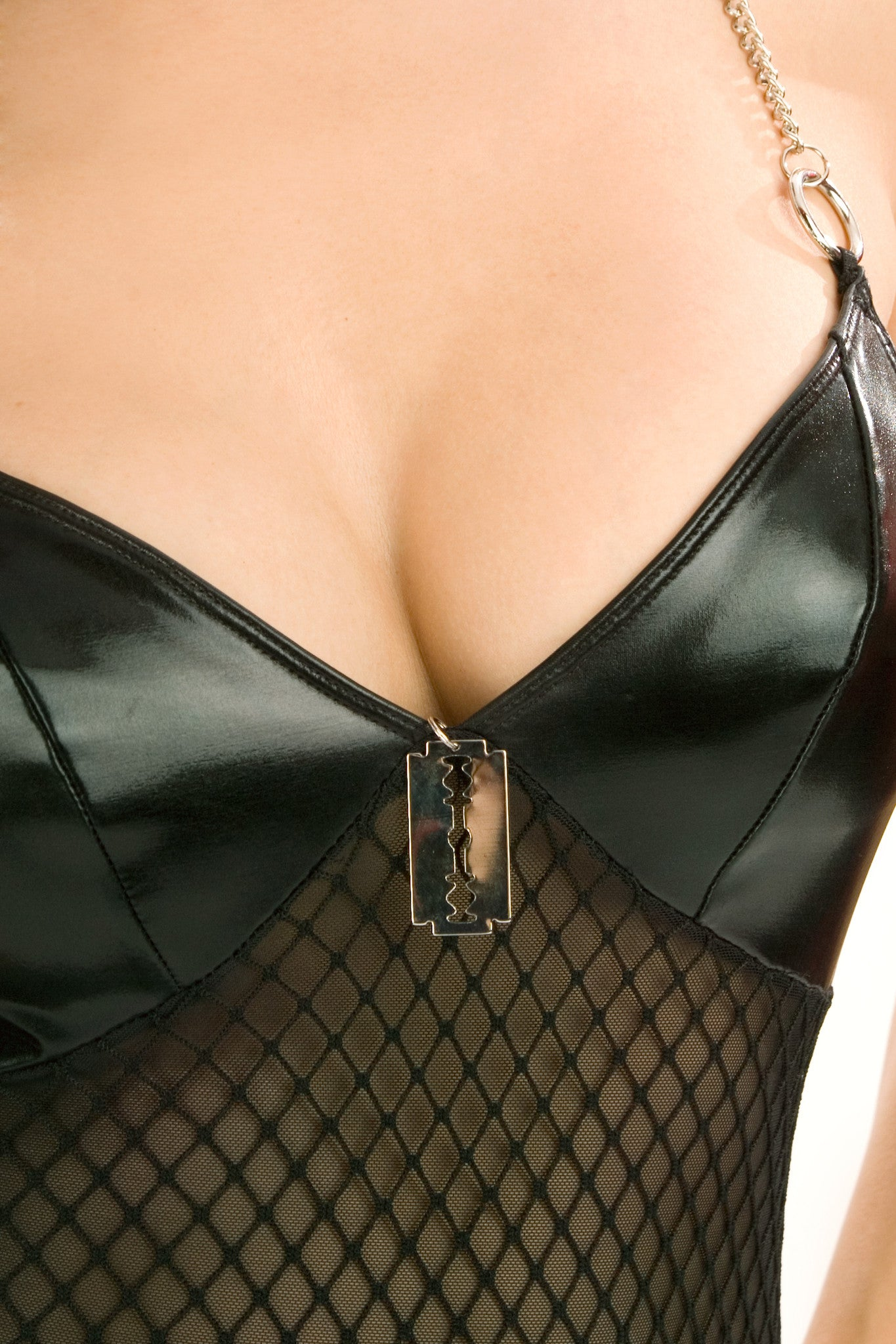Masochist Chemise with Chain Back G-String