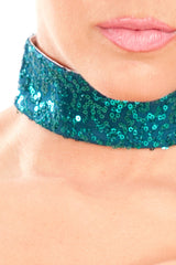 Sequined Showgirl Choker