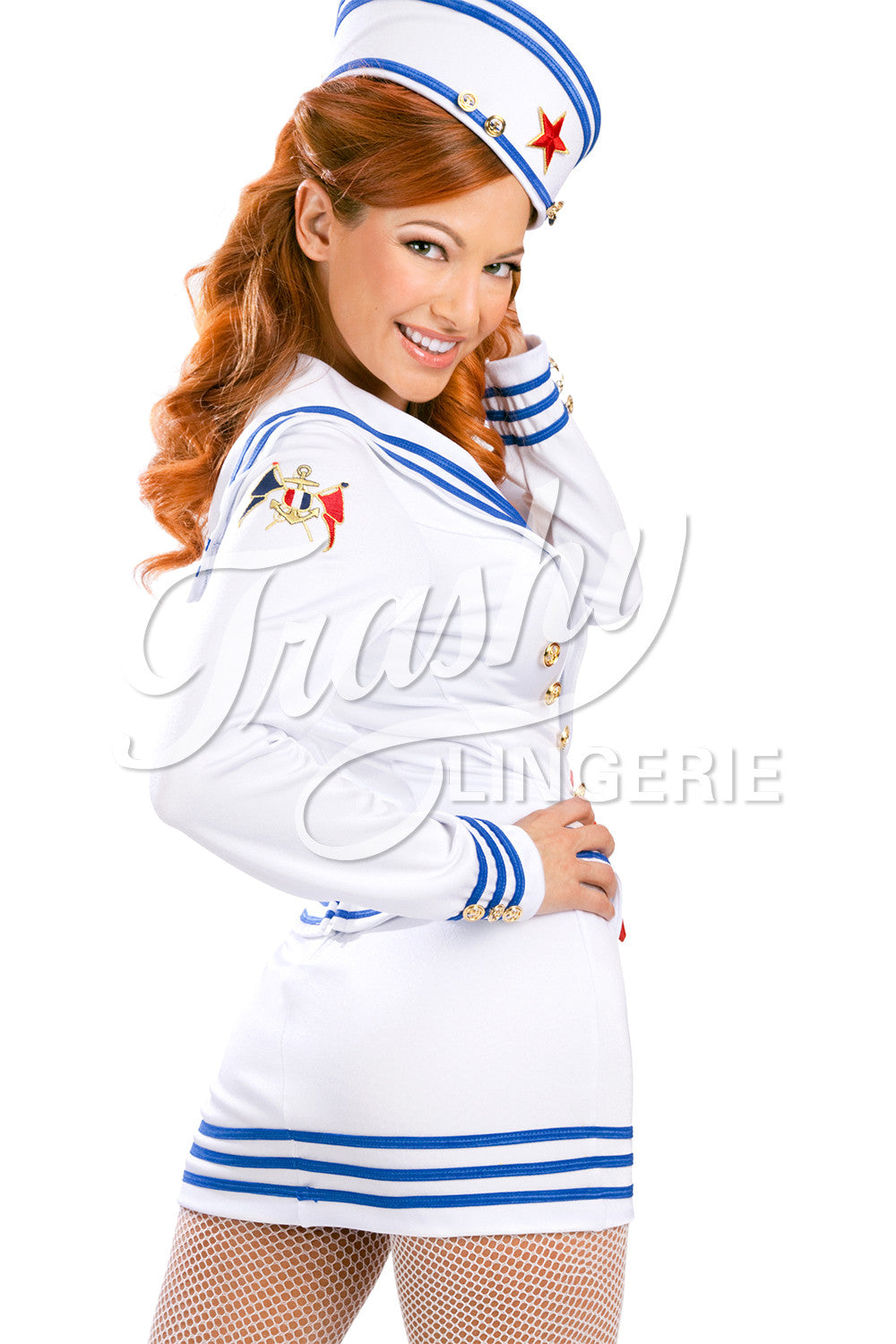 Pin-Up Sailor Mini Skirt
