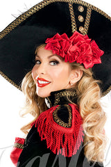 Velveteen Pirate Rose Hat