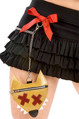 Red Riding Ruffled Skirt with Purse & Chain