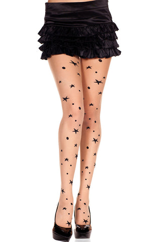 Sheer Moons & Stars Pantyhose