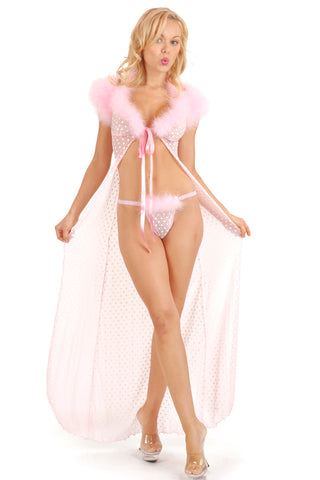 Créme Chantilly Fleur Long Robe