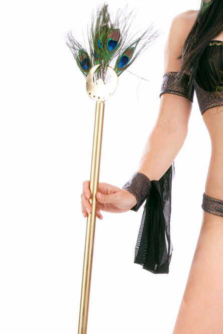 Cleopatra Feather Staff