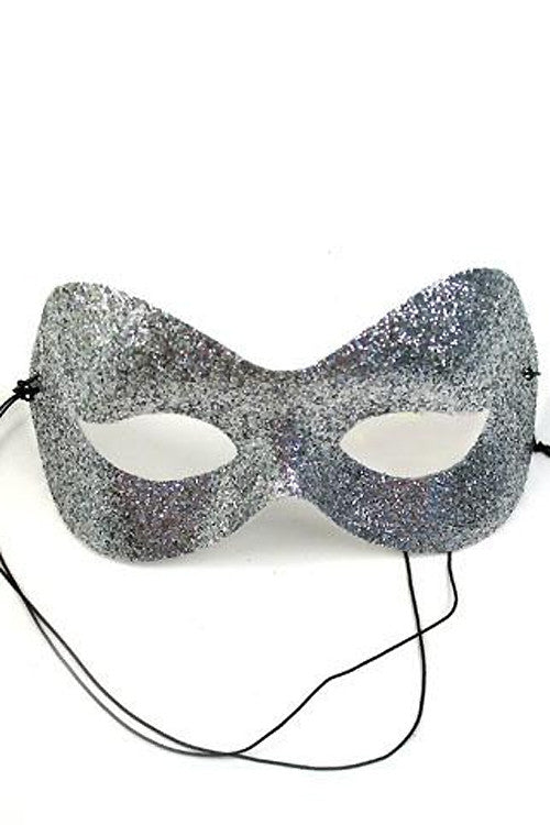 Silver Glitter Fashion Mask