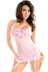 Carousel Underwire Chemise with Garters