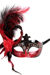 Feather Mask Red