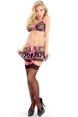 Lollipop Lace-Up Garter Skirt