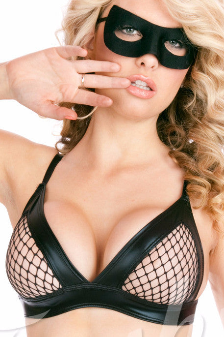 Rebel Yell Fishnet Bra(Unlined)