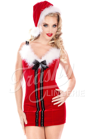 Velvet Christmas Vixen Short Dress