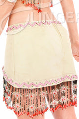 Lil White Dove Indian Beaded Skirt #3