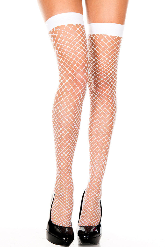Diamond Net Thigh Highs