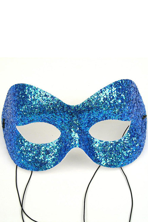 Turquoise Glitter Fashion Mask