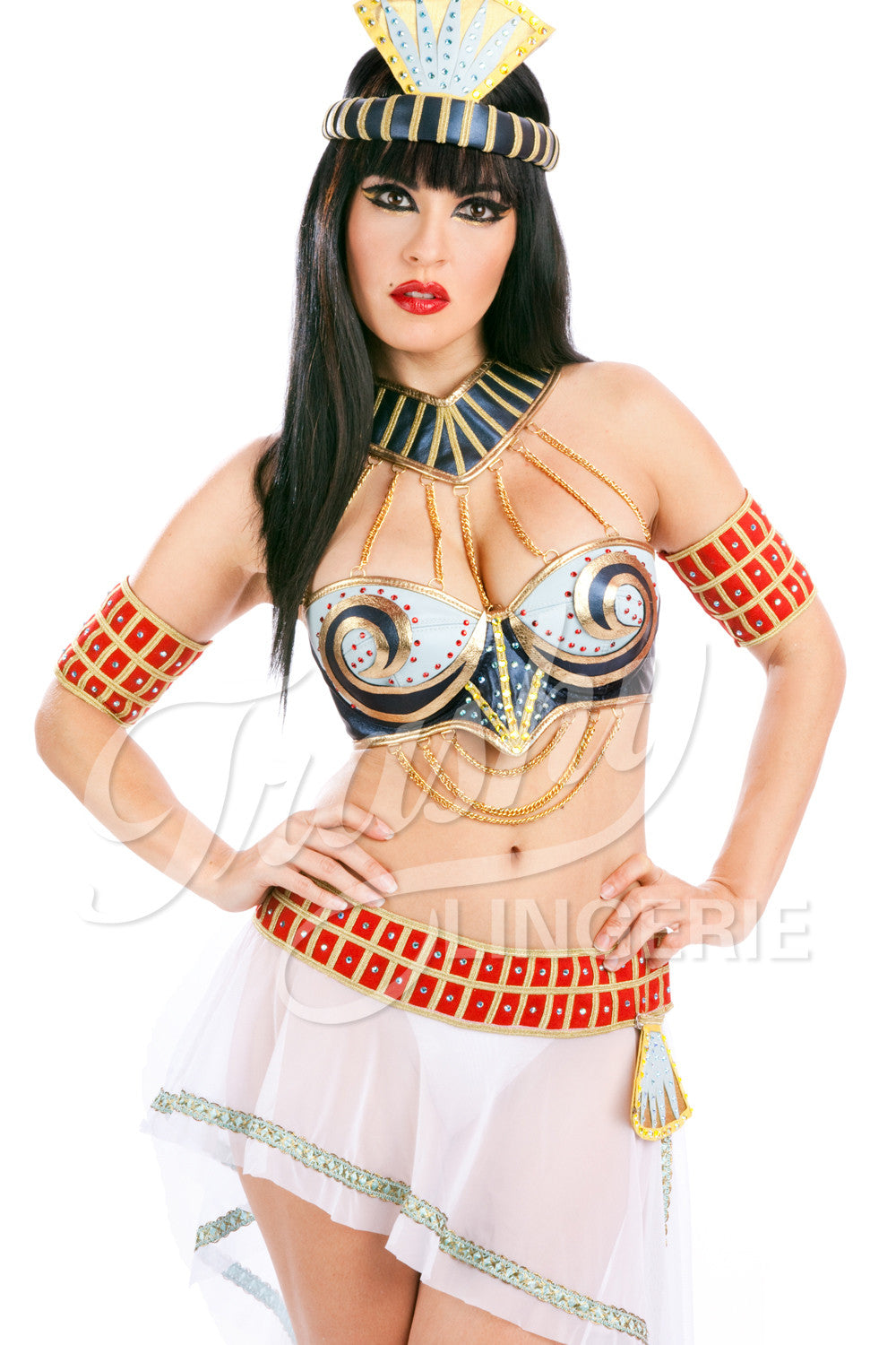 Queen of de Nile Bra with Swirl Cups