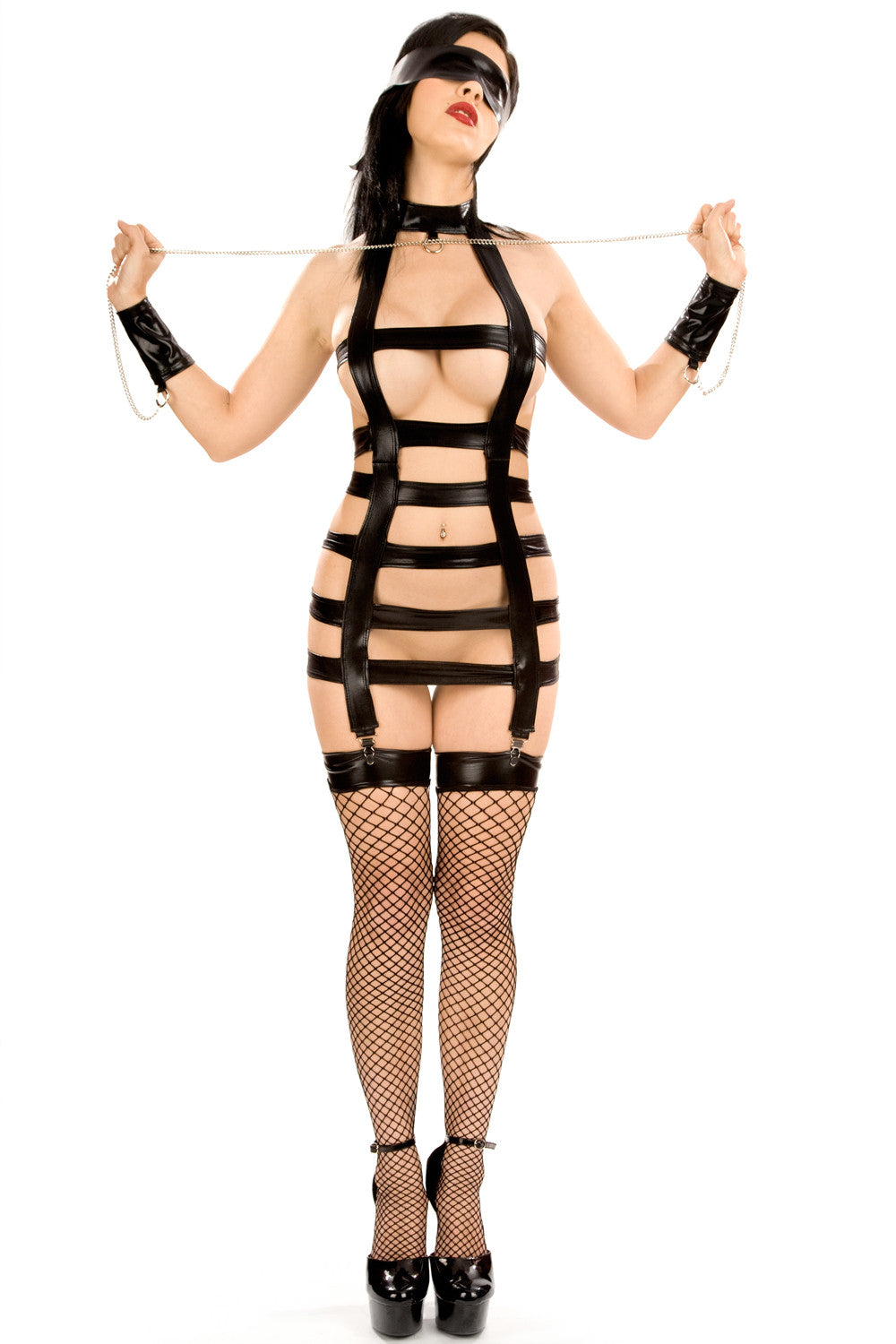 Masochist Harness with Cuffs