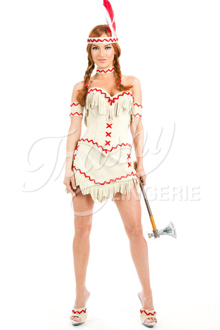 Lil White Dove Indian Fringe Corset