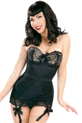 Corazon Stretch Corset with Lace Cups