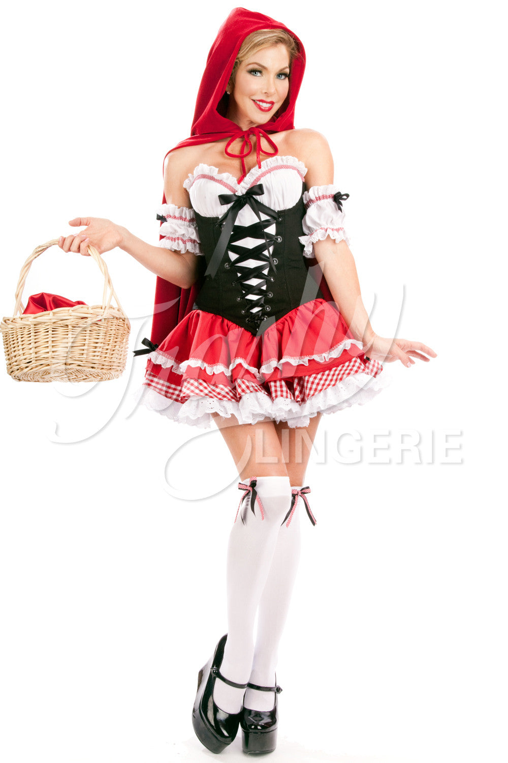 Bridgette Red Riding Hood Corset