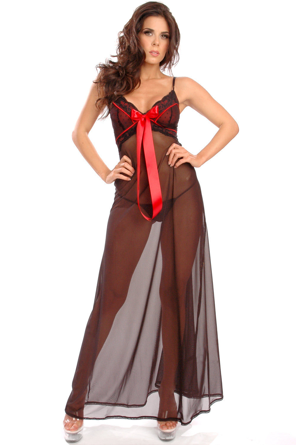 Fleurette Night Gown Red
