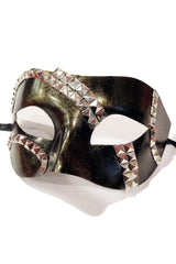 Distressed Dark Gold Studded Mask