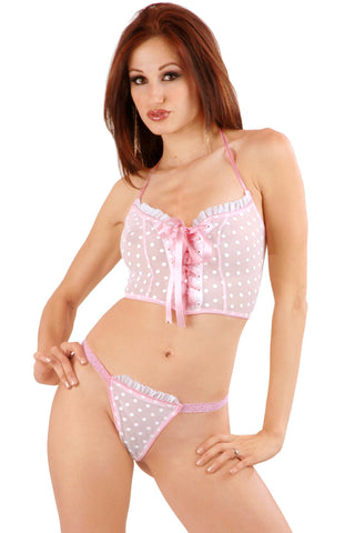 Créme Chantilly Simple G-String with Ruffle