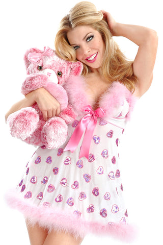 Heart Attack Soft Cup Babydoll