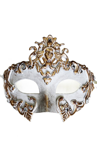 White/Gold Venetian Mask