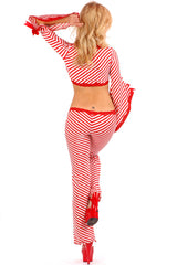 Peppermint Punky Lace-up Pants