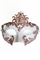 White/Copper Venetian Mask