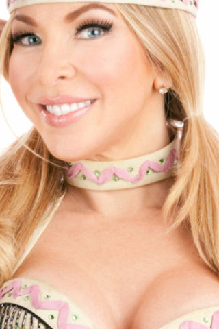 Lil White Dove Indian Choker