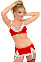 Larrykins Soft Cup Bra with Christmas Appliqués