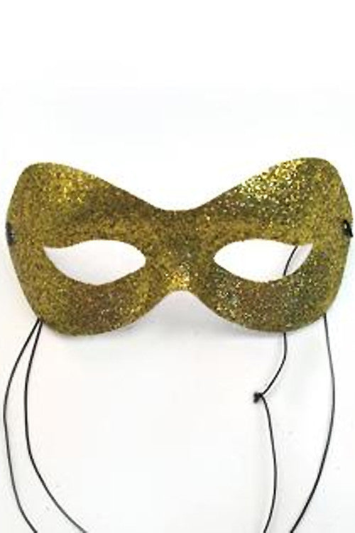 Gold Glitter Fashion Mask
