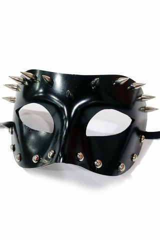 Black Studded Spike Mask